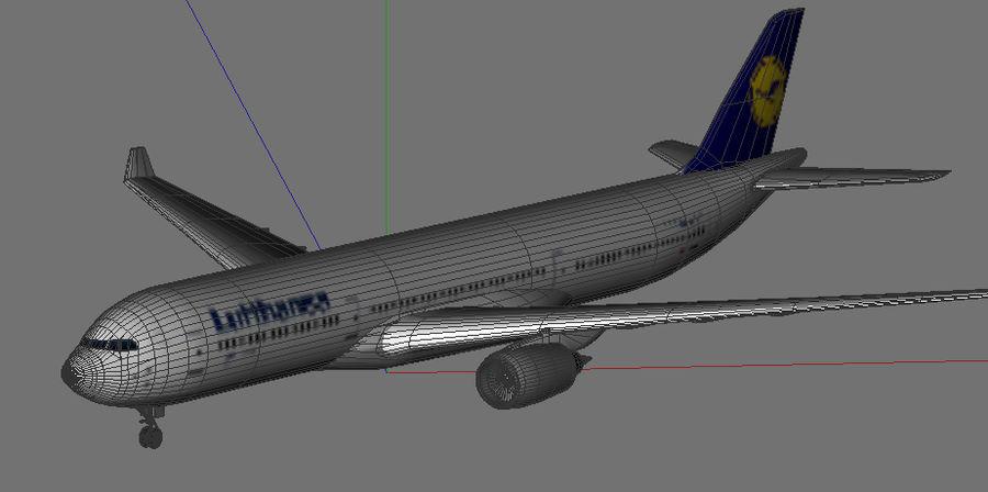 空中客车A330德国汉莎航空公司 royalty-free 3d model - Preview no. 5