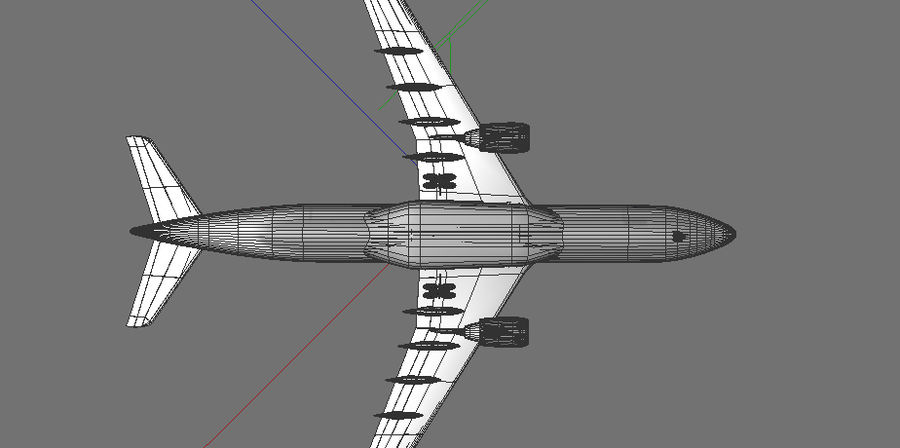 Airbus A330 Lufthansa royalty-free 3d model - Preview no. 9