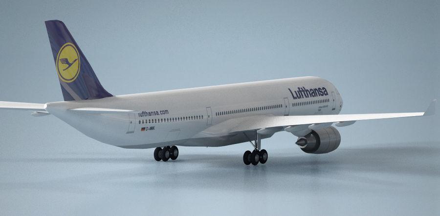 空中客车A330德国汉莎航空公司 royalty-free 3d model - Preview no. 3