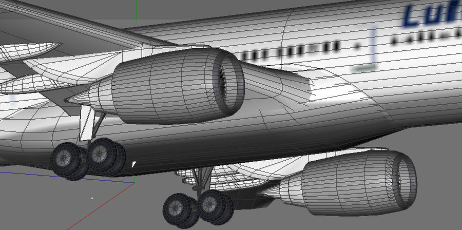 Airbus A330 Lufthansa royalty-free 3d model - Preview no. 7