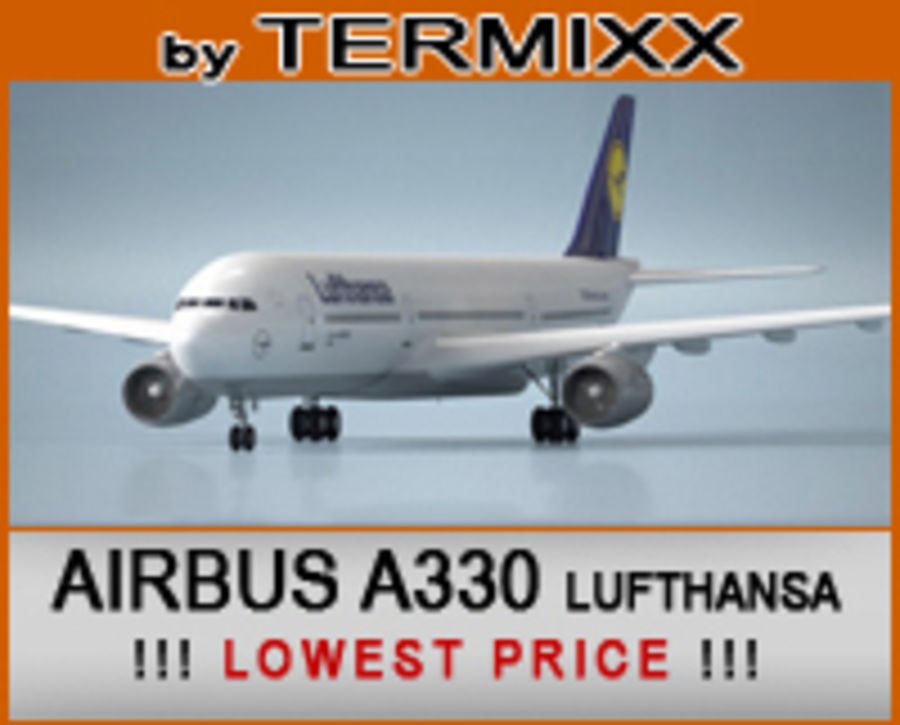 Airbus A330 Lufthansa royalty-free 3d model - Preview no. 1