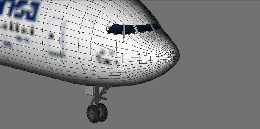 Airbus A330 Lufthansa royalty-free 3d model - Preview no. 8