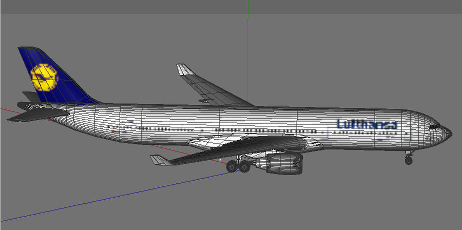 Airbus A330 Lufthansa royalty-free 3d model - Preview no. 6