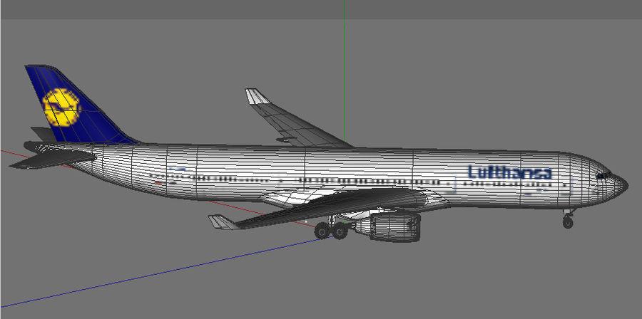 空中客车A330德国汉莎航空公司 royalty-free 3d model - Preview no. 6