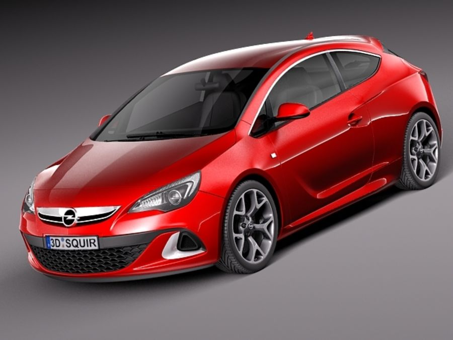 Opel Astra OPC 2013 royalty-free 3d model - Preview no. 1