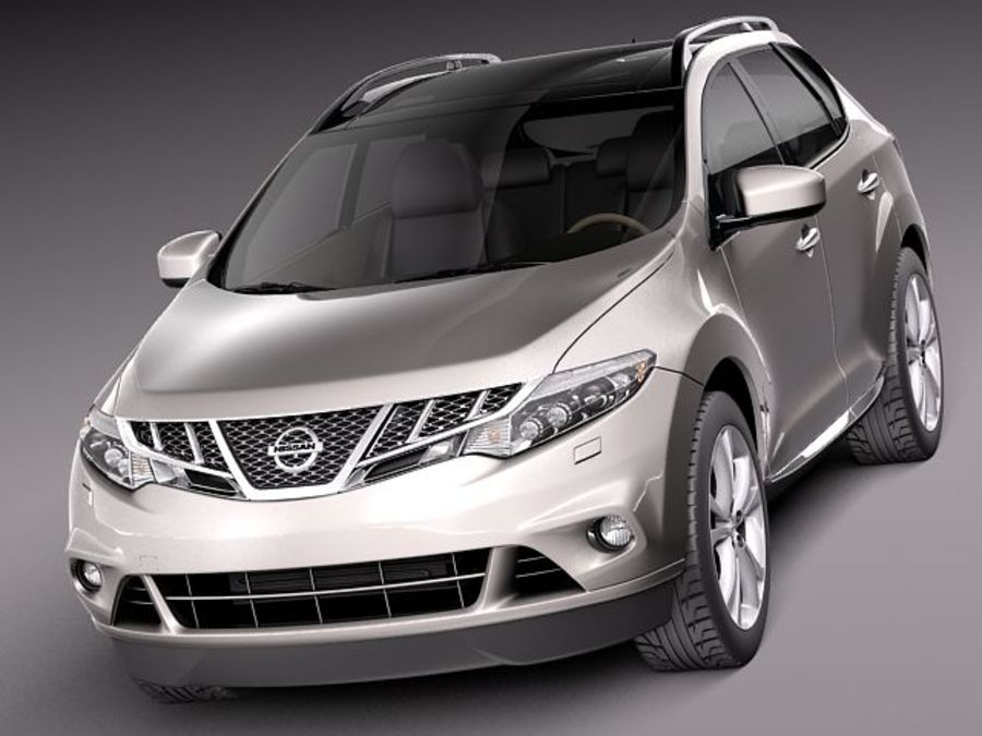 Nissan Murano 2012 royalty-free 3d model - Preview no. 2