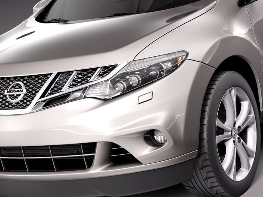 Nissan Murano 2012 royalty-free 3d model - Preview no. 3