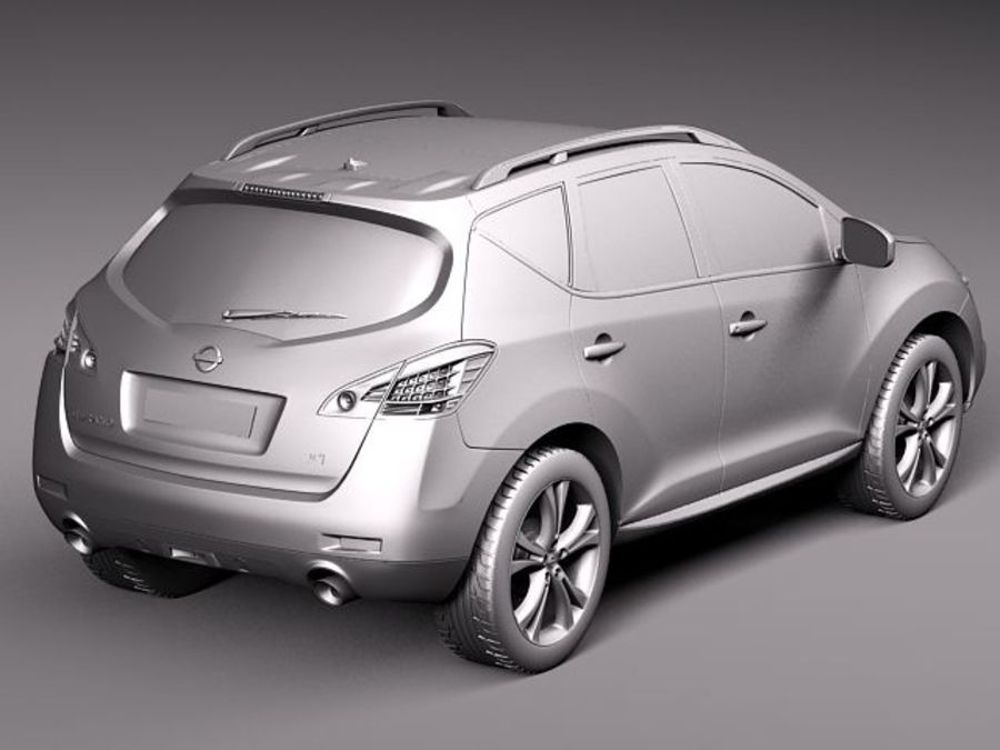 Nissan Murano 2012 royalty-free 3d model - Preview no. 9