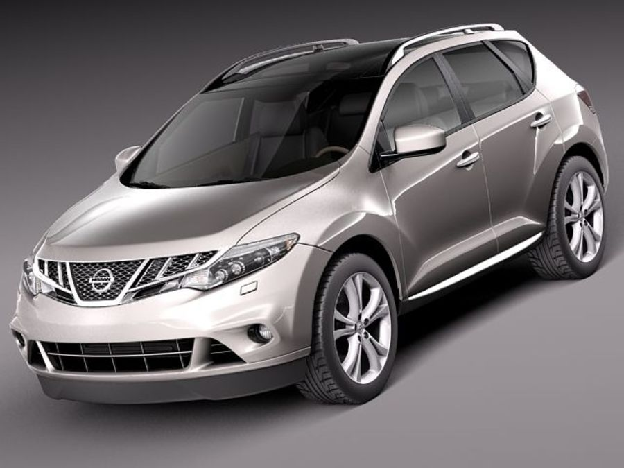 Nissan Murano 2012 royalty-free 3d model - Preview no. 1