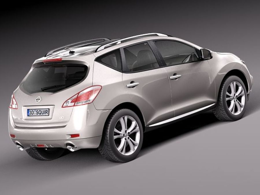 Nissan Murano 2012 royalty-free 3d model - Preview no. 6