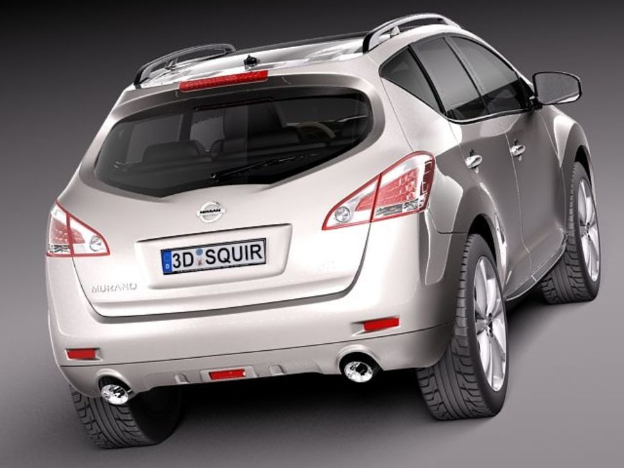 Nissan Murano 2012 royalty-free 3d model - Preview no. 5