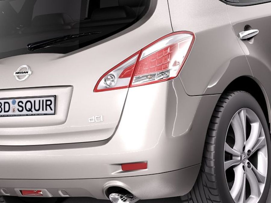 Nissan Murano 2012 royalty-free 3d model - Preview no. 4