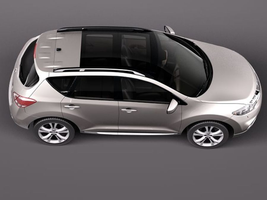 Nissan Murano 2012 royalty-free 3d model - Preview no. 8