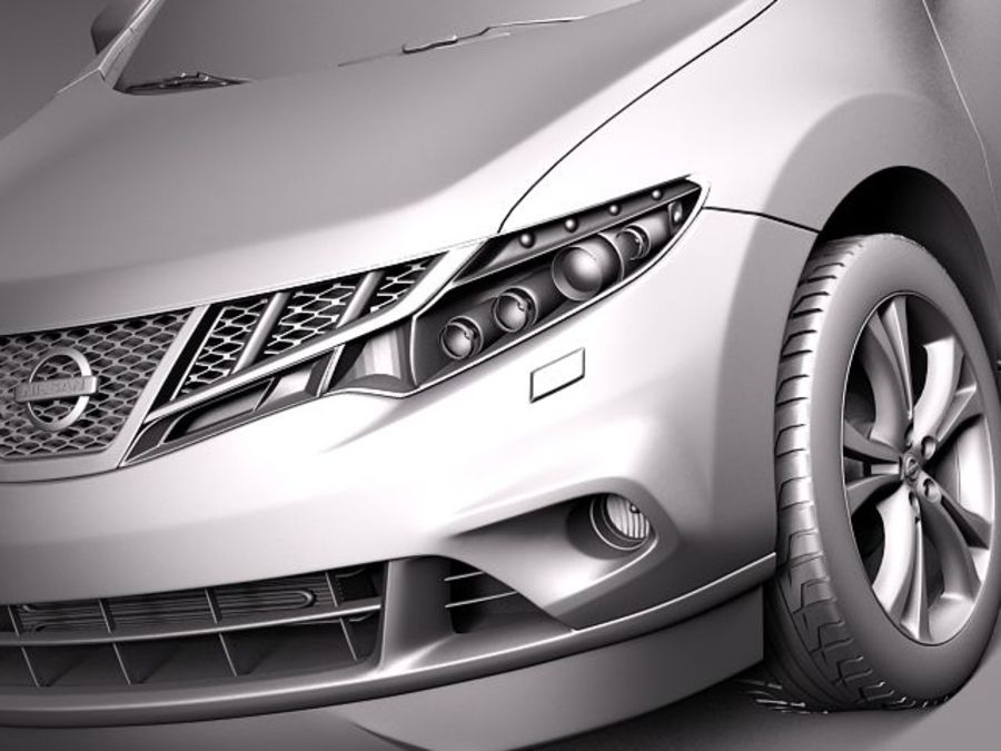 Nissan Murano 2012 royalty-free 3d model - Preview no. 11