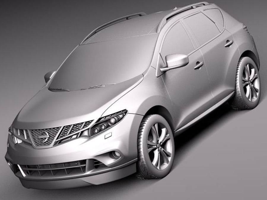 Nissan Murano 2012 royalty-free 3d model - Preview no. 12