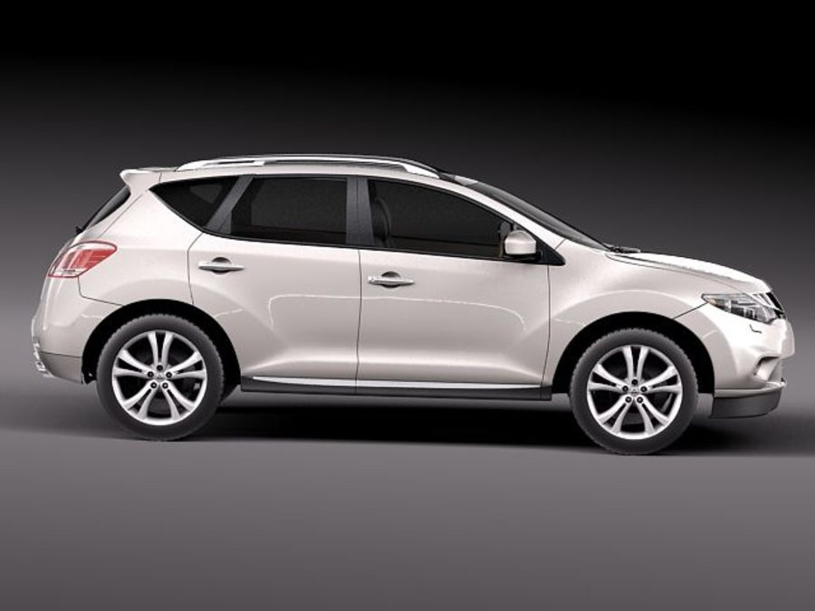 Nissan Murano 2012 royalty-free 3d model - Preview no. 7
