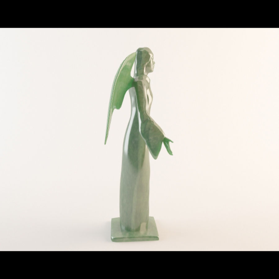 Angel statue royalty-free 3d model - Preview no. 2