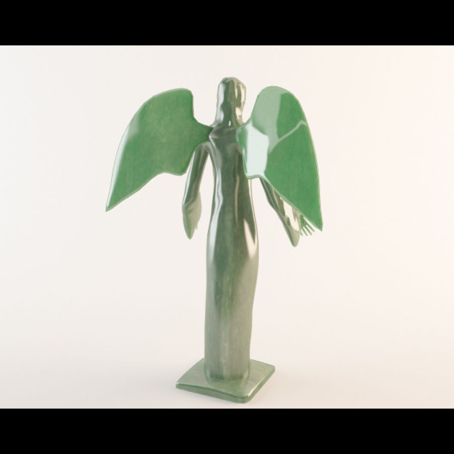 Angel statue royalty-free 3d model - Preview no. 3