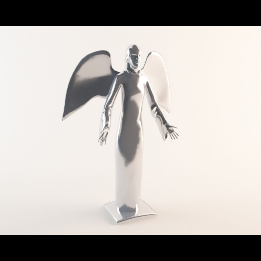 Angel statue royalty-free 3d model - Preview no. 4