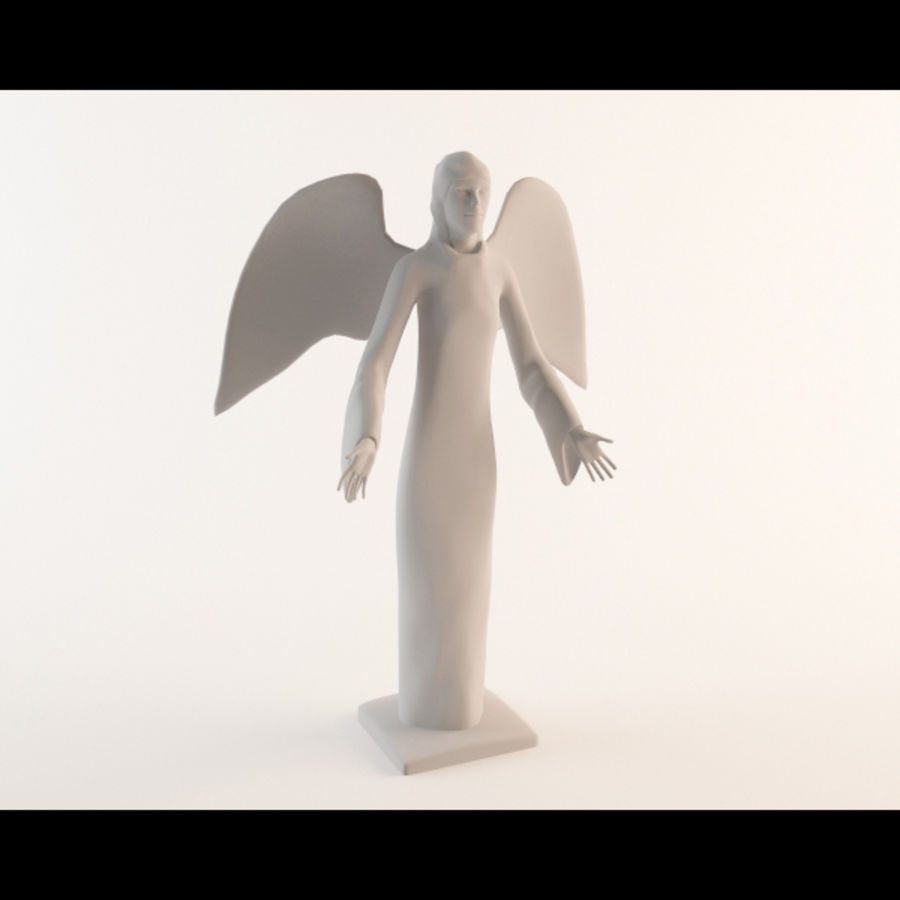 Angel statue royalty-free 3d model - Preview no. 6