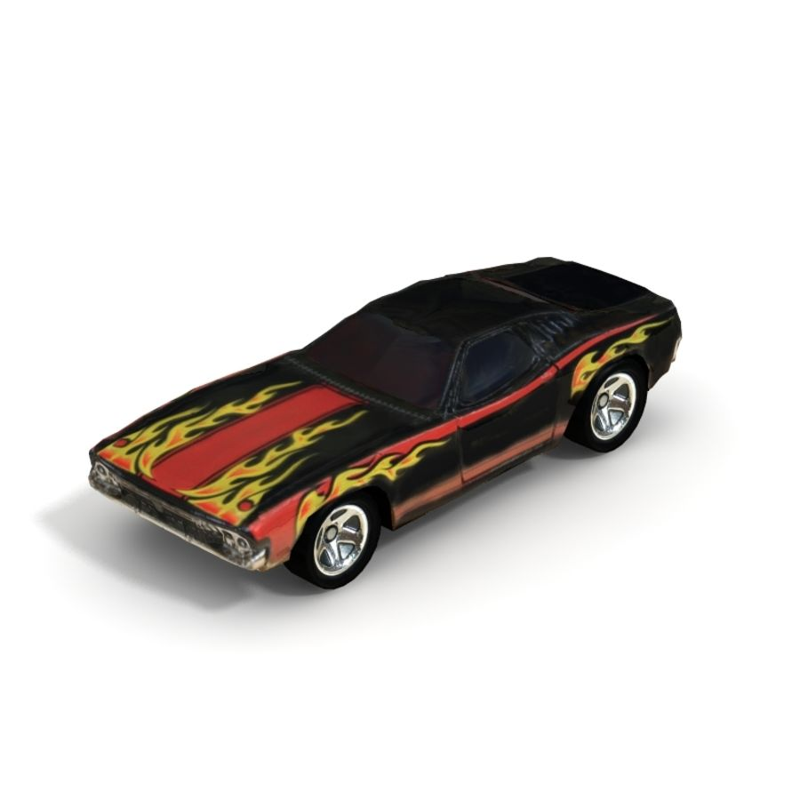 1970 Dodge Challenger - Low Poly royalty-free 3d model - Preview no. 1