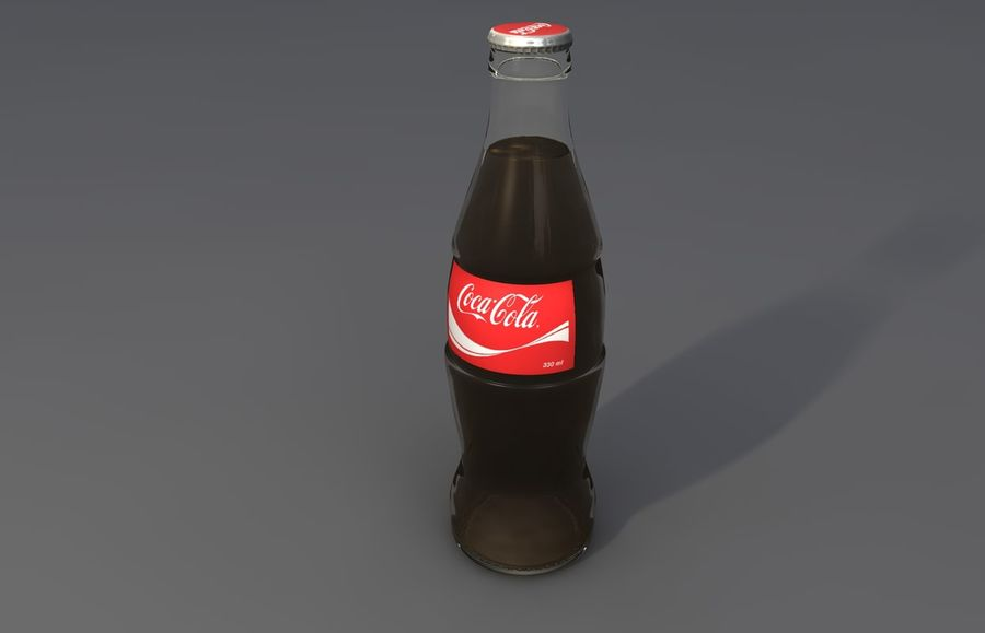 Coca Cola bouteille et verre royalty-free 3d model - Preview no. 3