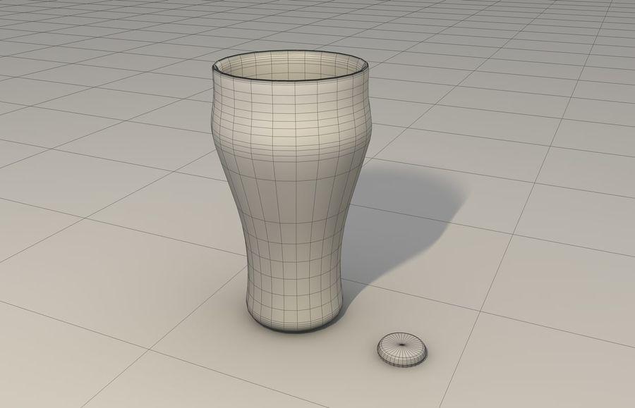 コカコーラボトル&グラス royalty-free 3d model - Preview no. 6