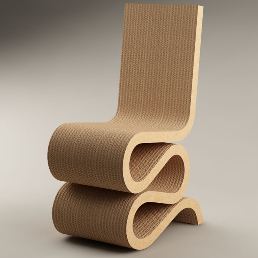 chair 10 frank gehry wiggle side chair 3d model 3 max free3d. Black Bedroom Furniture Sets. Home Design Ideas
