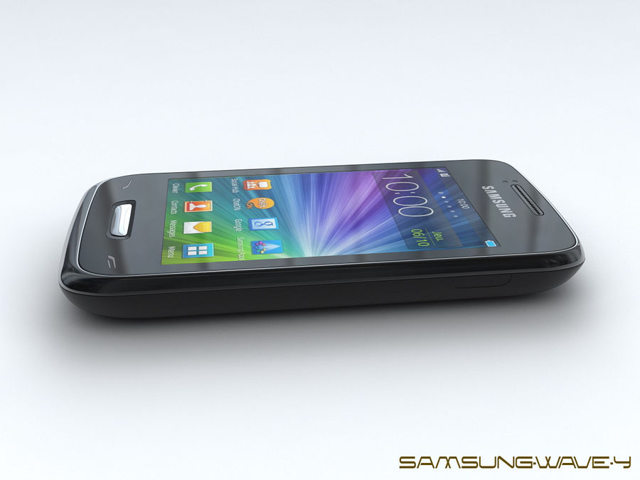 Samsung Wave Y royalty-free 3d model - Preview no. 7