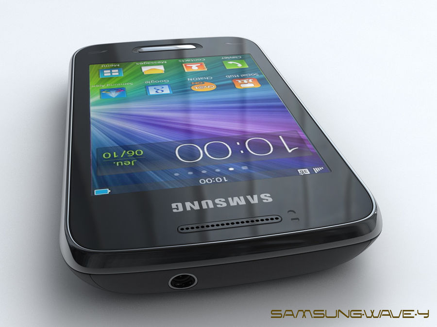 Samsung Wave Y royalty-free 3d model - Preview no. 5