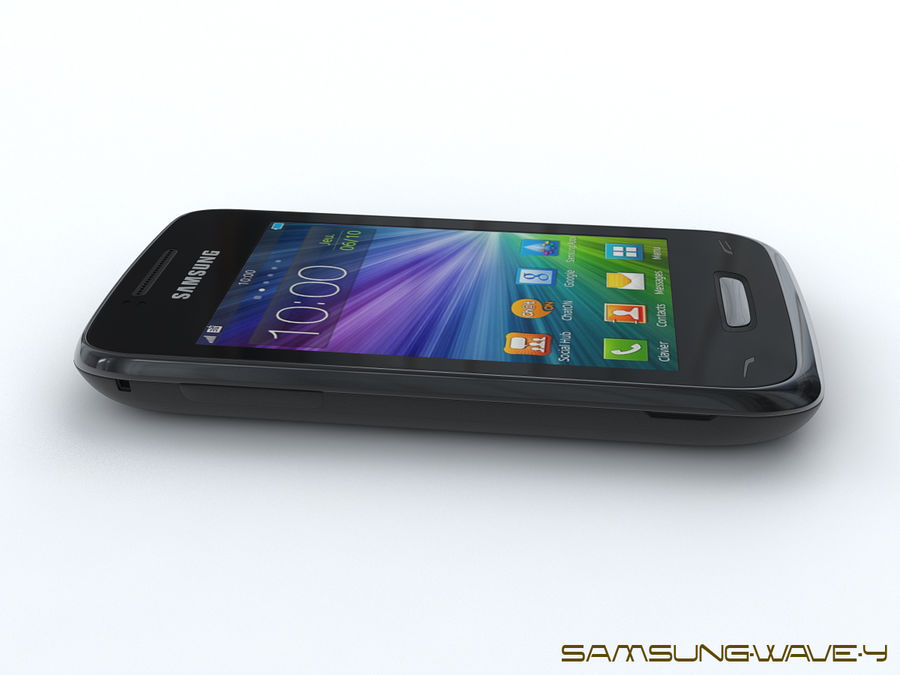 Samsung Wave Y royalty-free 3d model - Preview no. 6