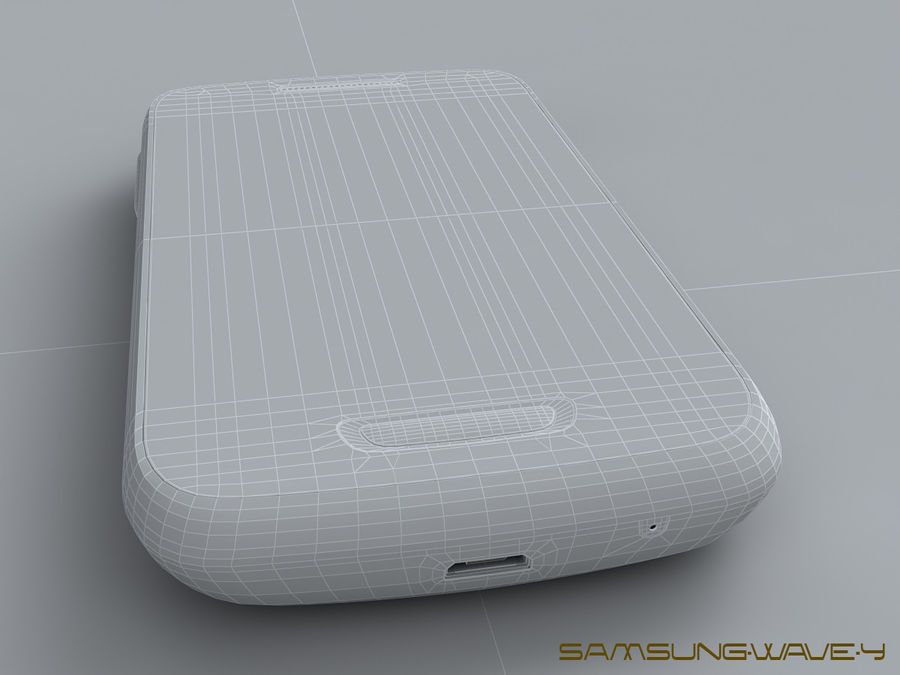 Samsung Wave Y royalty-free 3d model - Preview no. 25