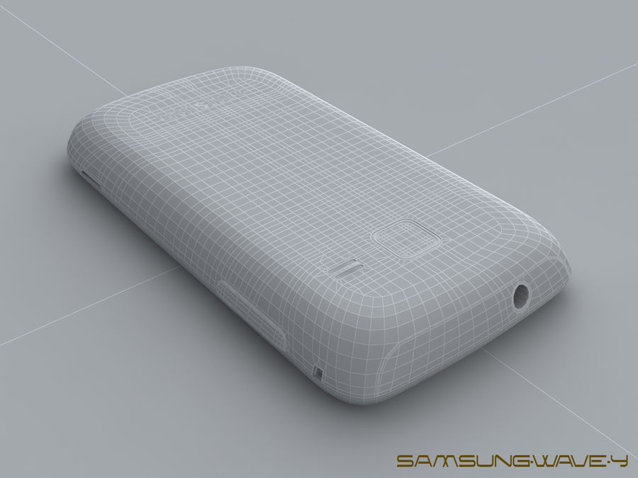Samsung Wave Y royalty-free 3d model - Preview no. 27