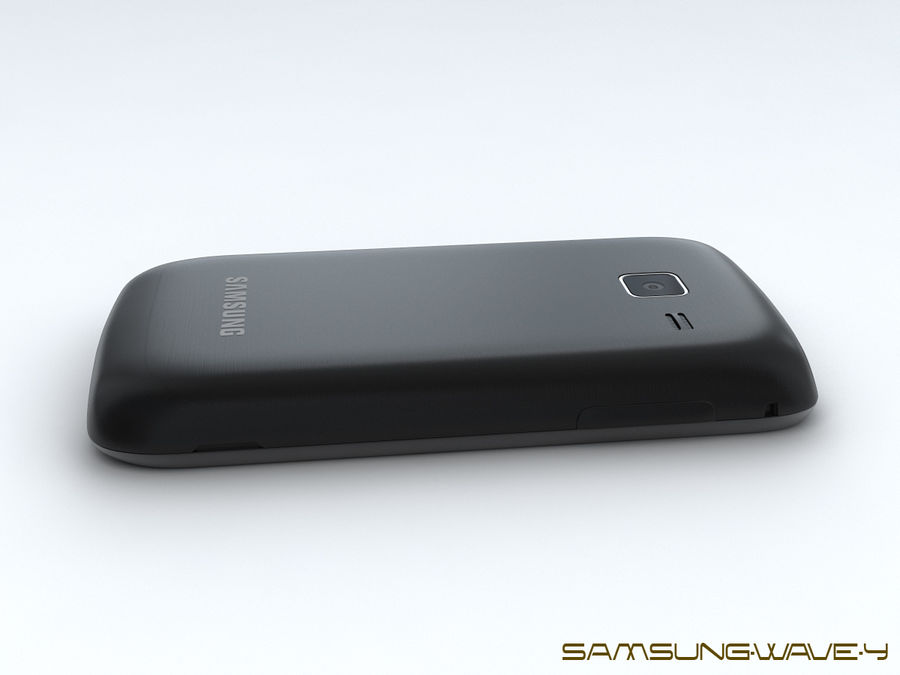Samsung Wave Y royalty-free 3d model - Preview no. 16