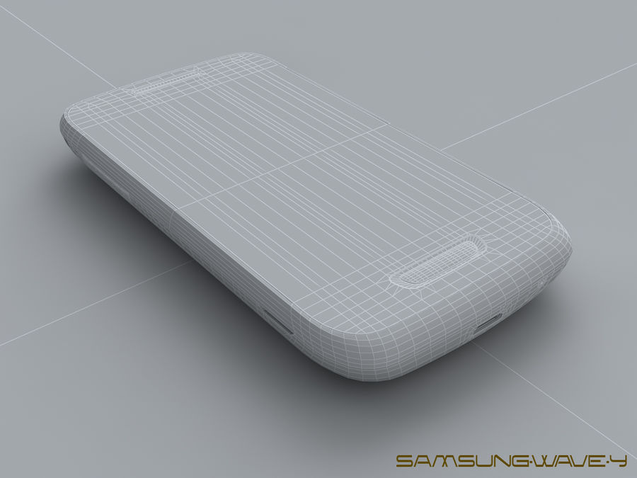 Samsung Wave Y royalty-free 3d model - Preview no. 24