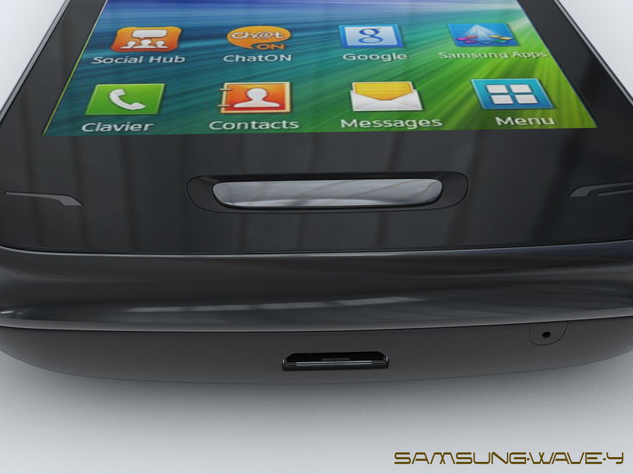 Samsung Wave Y royalty-free 3d model - Preview no. 23