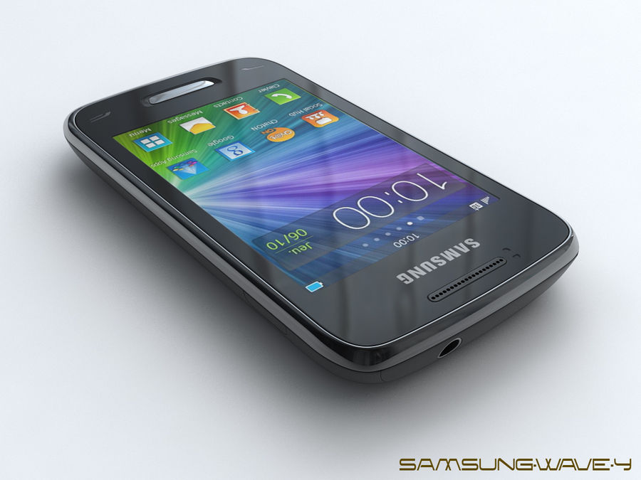 Samsung Wave Y royalty-free 3d model - Preview no. 2