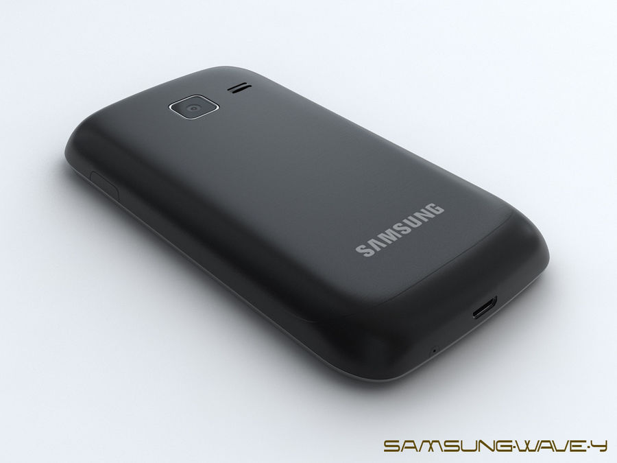 Samsung Wave Y royalty-free 3d model - Preview no. 10
