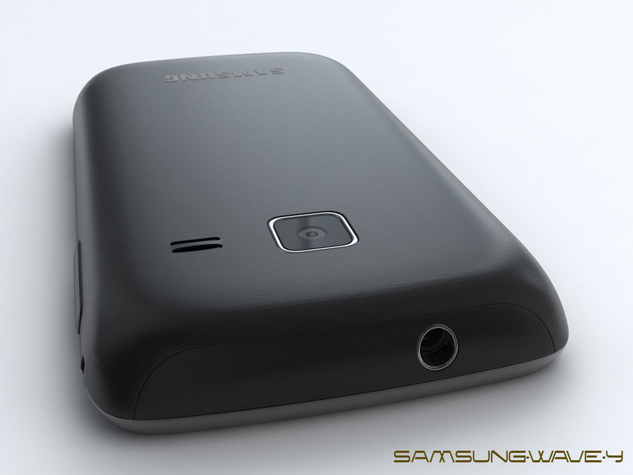 Samsung Wave Y royalty-free 3d model - Preview no. 13