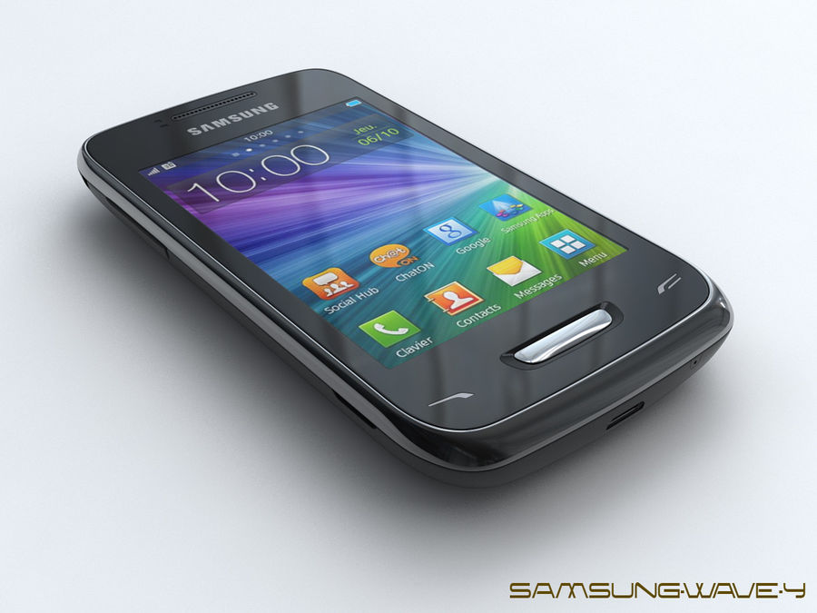 Samsung Wave Y royalty-free 3d model - Preview no. 1
