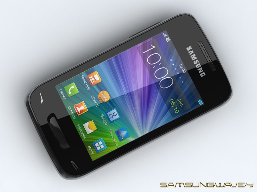 Samsung Wave Y royalty-free 3d model - Preview no. 9