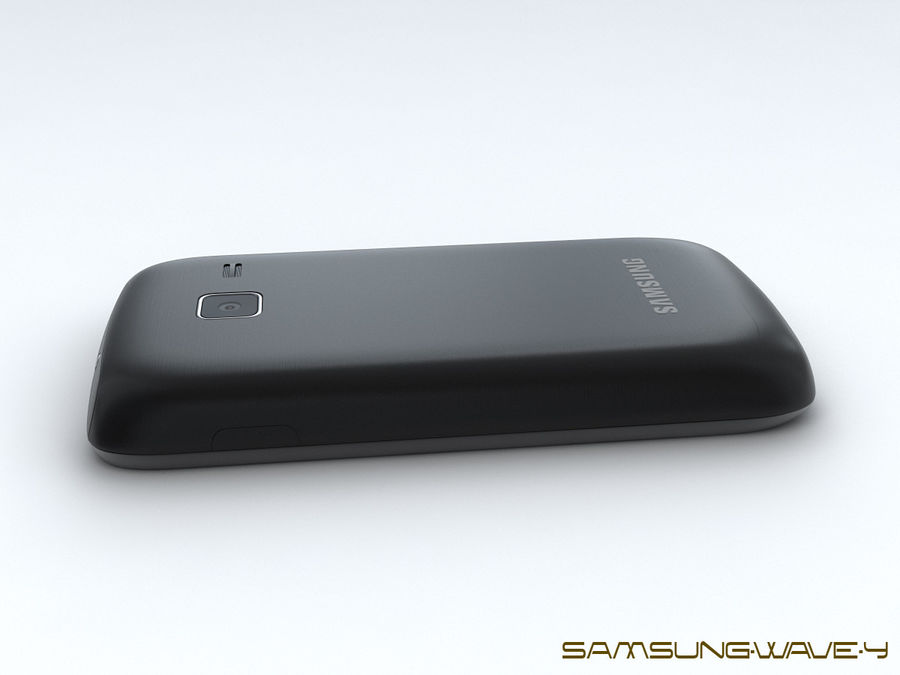 Samsung Wave Y royalty-free 3d model - Preview no. 15