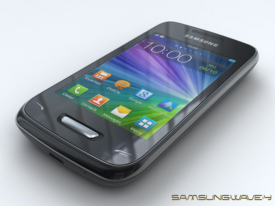 Samsung Wave Y royalty-free 3d model - Preview no. 3