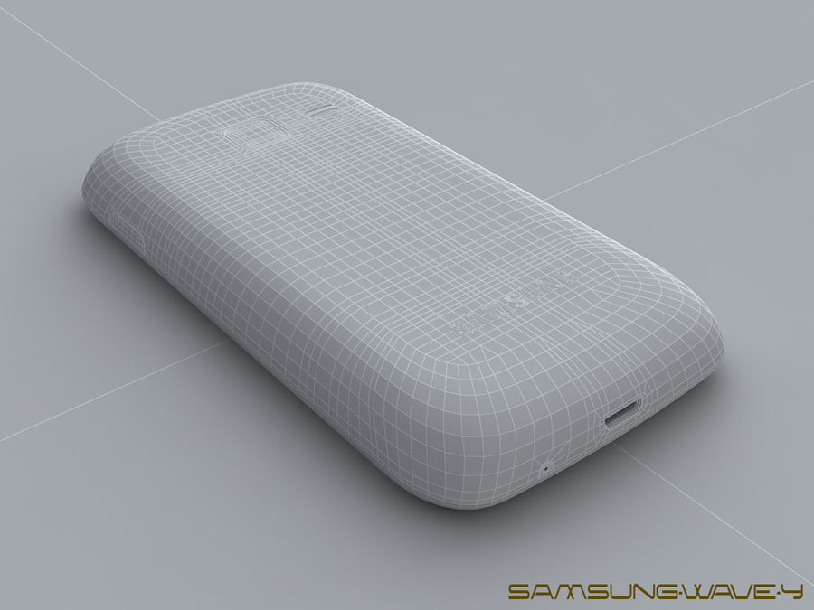 Samsung Wave Y royalty-free 3d model - Preview no. 26