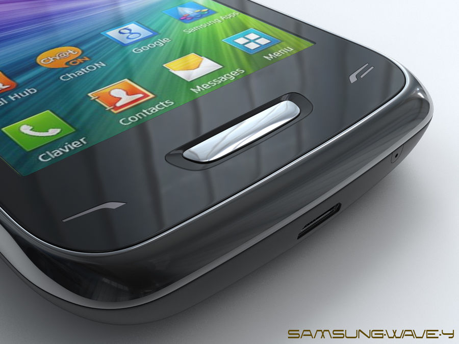 Samsung Wave Y royalty-free 3d model - Preview no. 18