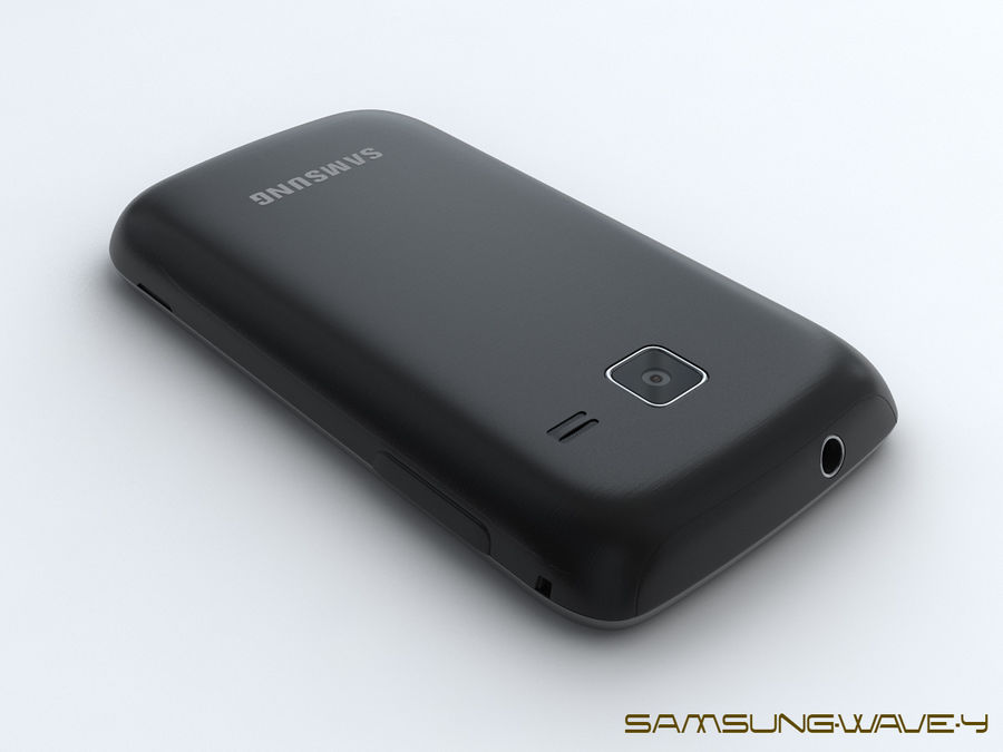 Samsung Wave Y royalty-free 3d model - Preview no. 11