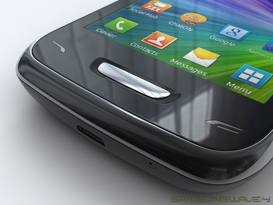 Samsung Wave Y royalty-free 3d model - Preview no. 19