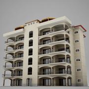 Tropical Latin Latin Beach Tower Hotel Hacienda 3d model