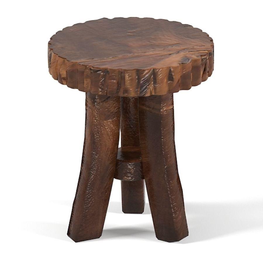 Groovy stuff Reclaimed teak wood furniture Prailire Stool 3D Model ...