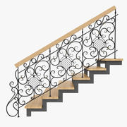 Wrought Iron Stair Railing 4 3d model